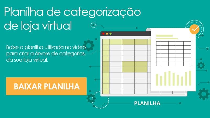 Planilha de categorização de loja virtual
